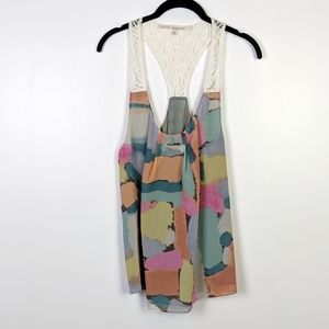 RACHEL Rachel Roy Abstract Multi Color Tank